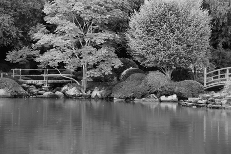 toowoomba: japanese gardens rendered in black and white toowoomba queensland
