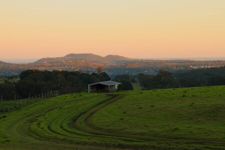 toowoomba: rural australia farmland bush scene toowoomba darling downs Stock Photo
