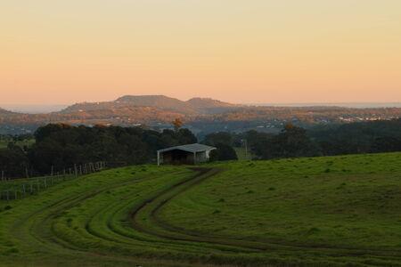 toowoomba: rural australia farmland bush scene toowoomba darling downs Stock Photo