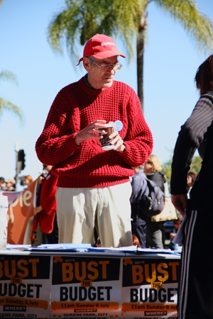 nazis: BRISBANE, AUSTRALIA - JULLY 06 : Unidentified  older Australians signing budget petition at Bust The Budget anti liberal governement Rally July 06, 2014 in Brisbane, Australia