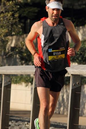 gill: BRISBANE, AUSTRALIA - AUGUST 03 Competitor Ryan Gill in Brisbane Marathon  August 03, 2014 in Brisbane, Australia