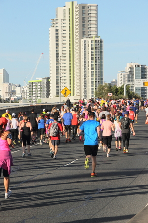 BRISBANE, AUSTRALIA - SEPTEMBER 07 : Unidentified runners  participating in the