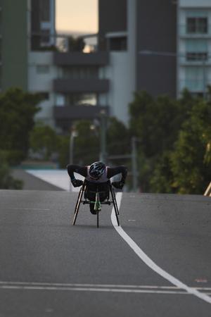 BRISBANE, AUSTRALIA - SEPTEMBER 07 :Rheed Mccracken  participating in the Bridge to Brisbane charity fun run on September 07, 2014 in Brisbane, Australia