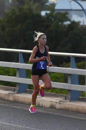 BRISBANE, AUSTRALIA - SEPTEMBER 07 :Clare Margaret Geraghty in the Bridge to Brisbane charity fun run on September 07, 2014 in Brisbane, Australia