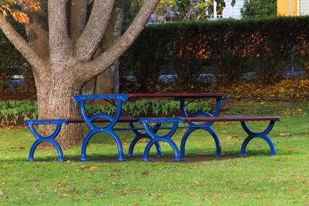 park bench in laurel bank park vison imapred scented garden toowoomba