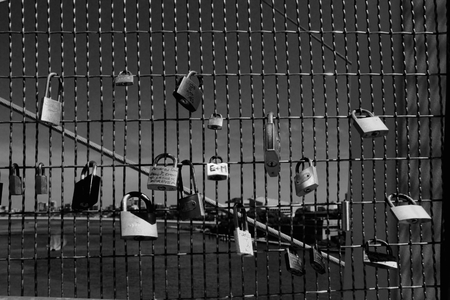 ブリスベン、オーストラリア - 11 月 14 日: 愛ロック中 g20 市セキュリティ ロックダウン 2014 年 11 月 14 日ブリスベーン、オーストラリアの上に kurilpa