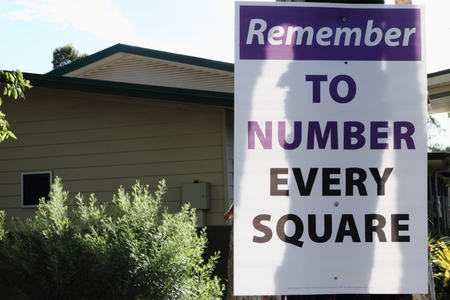 state election: MORAYFIELD, AUSTRALIA - JANUARY 31: Queensland State Election Labor sign pro preferential voting on January 31, 2015 in Morayfield, Australia