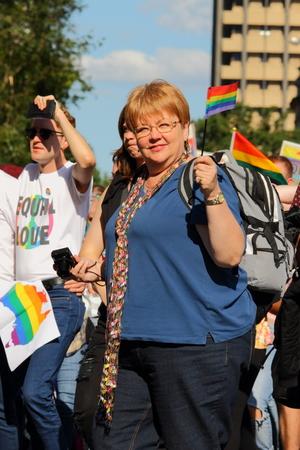 abbott: BRISBANE, AUSTRALIA - AUGUST 8 2015:Street marchers at Marriage Equality Rally August 8, 2015 in Brisbane, Australia
