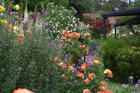 casa de campo: Tasmania Jardines herbácea casa en la zona de jardín Foto de archivo