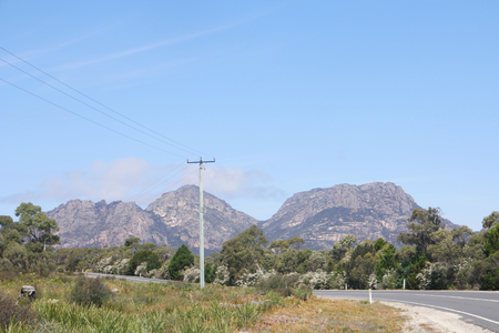 Scenic road to freycinet national park