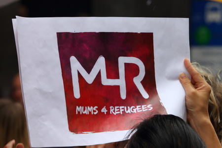 protest sign: BRISBANE, AUSTRALIA - FEBRUARY 05 : Protest sign in support of churches offering sanctuary to refugees February 05, 2016 in Brisbane, Australia