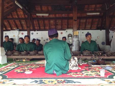 gamelan: Gamelan Sekaten  Traditional Music instrument from Keraton Kanoman Cirebon Indonesia . This music instrument played inly once a year on sacrament ceremony panjang jimat .  Stock Photo