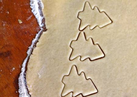 cooking cookies, close-up photo
