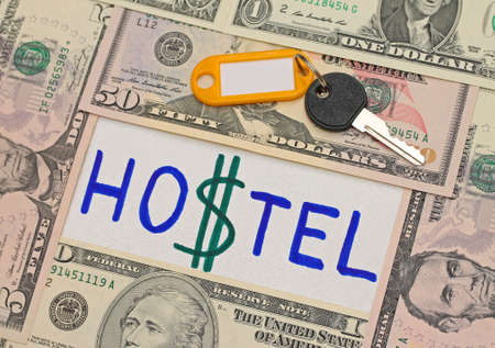 hostel: Savings concept. Hostel as alternative to expensive hotels