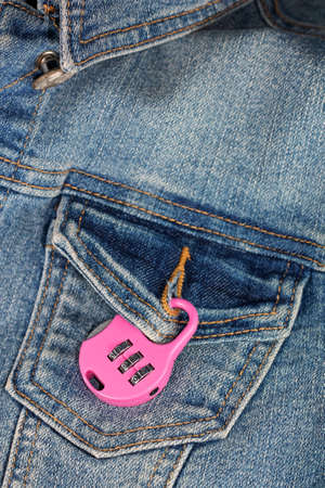 breast pocket: Concepts of protection against unwanted feelings - lock on breast pocket