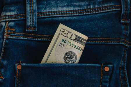 Conceptual photo of Pocket money, close-up