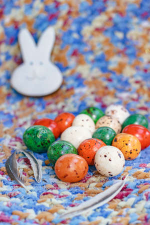 Easter. Vertical image of Chocolate eggs for the festive table Stock Photo