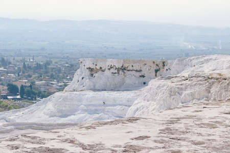 Turkey Attractions. Photo of Pamukkale Travertines with nobody Stock Photo