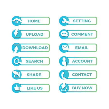 Web Button Set Illustration