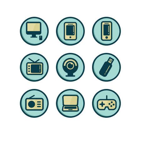 Gadget Icon Set Illustration