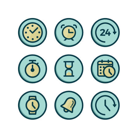 Time Icon Set. Stok Fotoğraf - 75786695