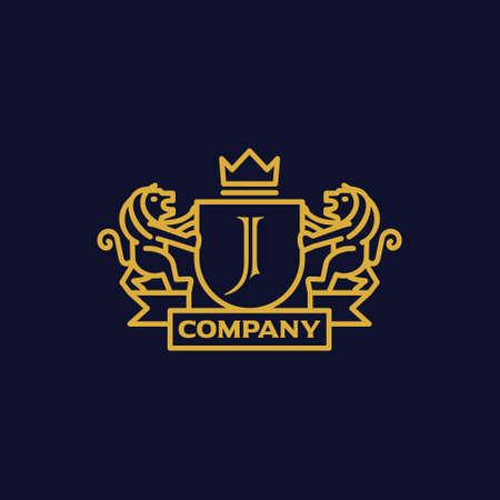 手紙 J 紋章付き外衣  イラスト・ベクター素材