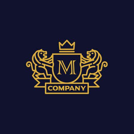 文字 M の紋章