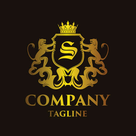 king s: Luxury Letter S Coat of arms