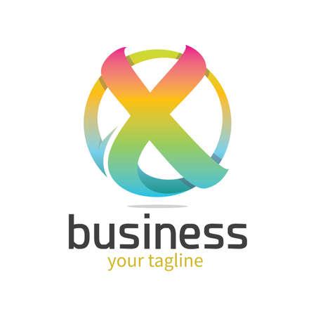 lettre moderne abstraite x logo
