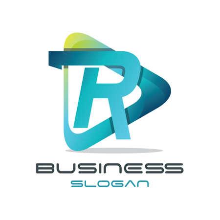 media player: Modern Letter R Media Logo