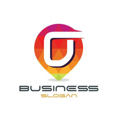 Brief O Kaart Logo Stock Illustratie