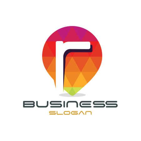 R の文字マップ ロゴ