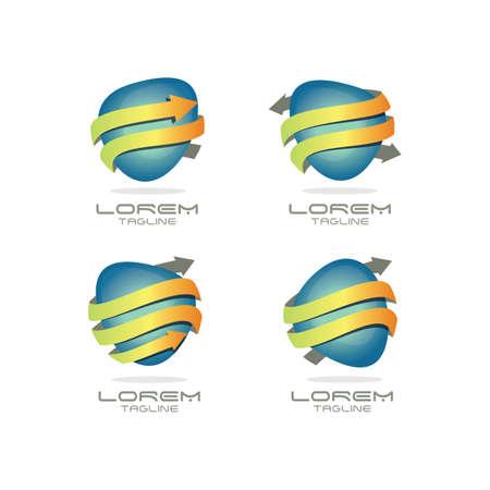 Arrow Logo Set Ilustração