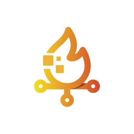 火技術  イラスト・ベクター素材