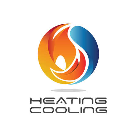 Heating and Cooling Illustration