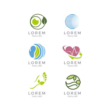 Healthcare Logo Set Illustration