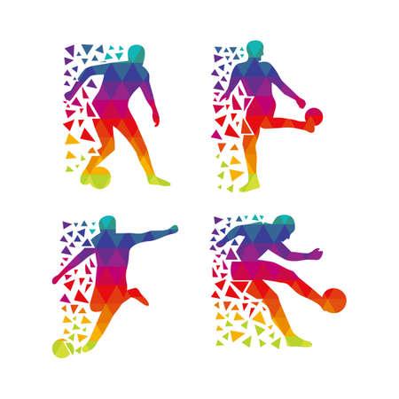 Colorful Footballer