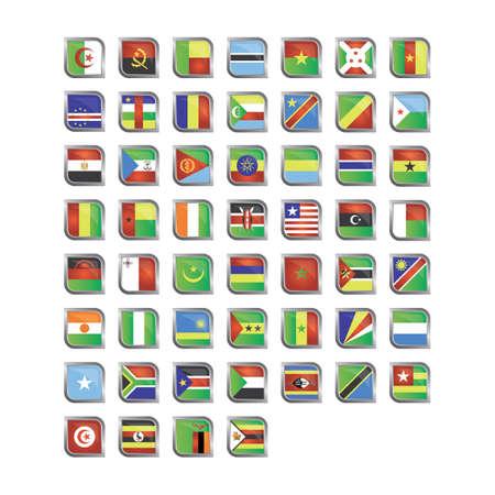 Different flag icons Ilustração