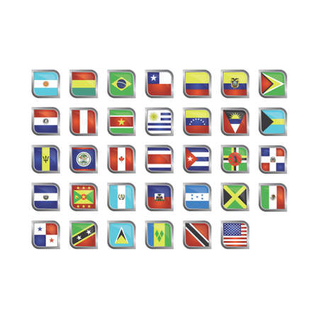 Different flag icons Vettoriali