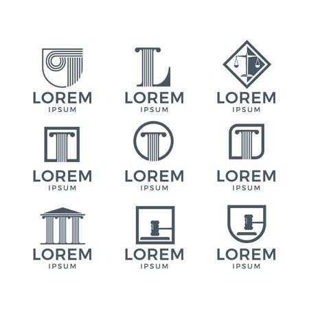 Icona della legge di Lorem. Archivio Fotografico - 84420778