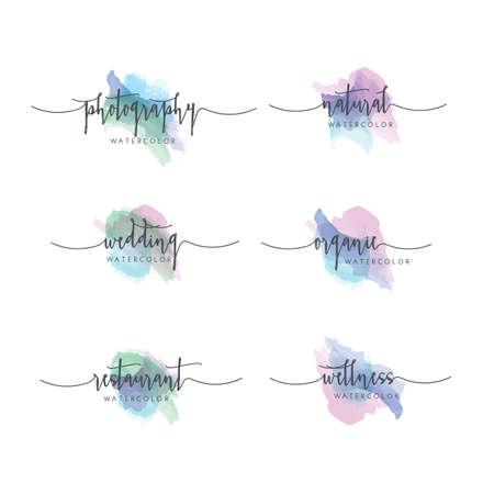 Watercolor Logo Set Vettoriali