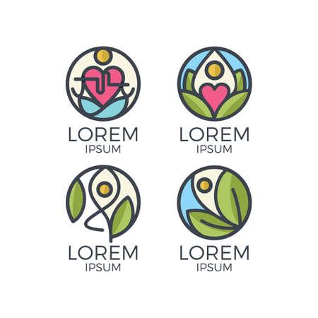 Lorem yoga icon.