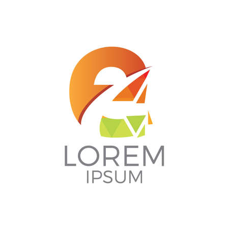 Colorful Letter e Logo