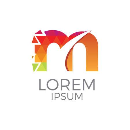 Colorful Letter m Logo