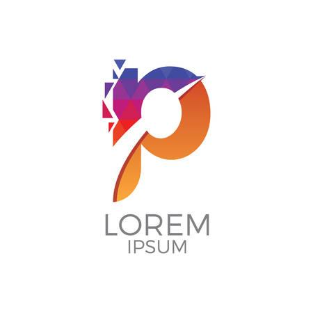 Logo colorato di lettera p Archivio Fotografico - 84573198