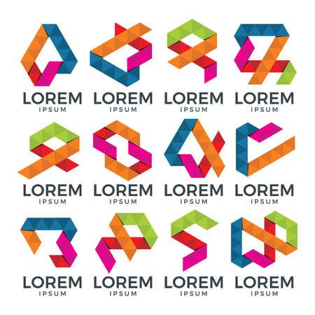 Logo geometrico astratto Archivio Fotografico - 85882223