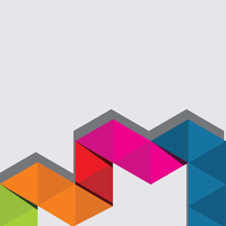 Colore astratto triangolo sfondo. Archivio Fotografico - 85939888