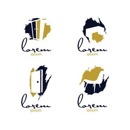 Art Furniture Logo. Vettoriali