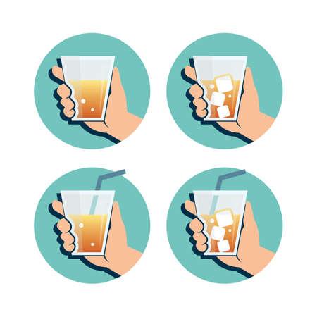 Hand Holding Drink Illustration.