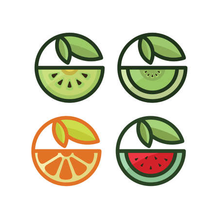 Healthy Fruit Illustration. Vettoriali